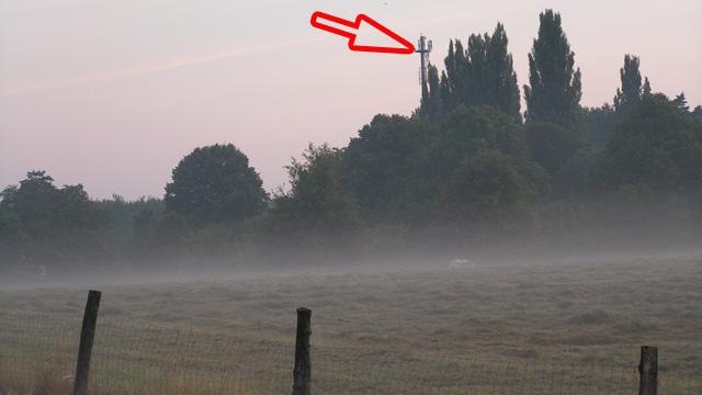 Herbststimmung mit Morgennebel: Blick übers Kellertor, 21. August 2013